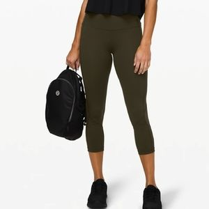 LULULEMON | NWT Olive Pace Rival Crop | 10